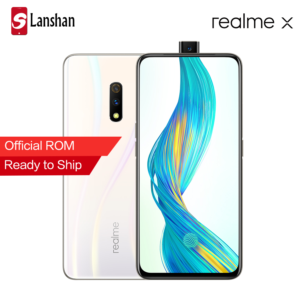 Original OPPO Realme X 6.53 inch Mobile Phone 4G RAM 64G ROM Snapdragon 710 Octa Core Android 9 Amoled Screen 4G LTE Smartphone-in Cellphones from Cellphones & Telecommunications    1