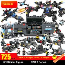 8 in 1 SWAT City Police Station Toys Weapon Gun Blocks Assembled Plastic building block toys for children Compatible with Legoed(China)