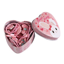 20pcs/Lot New Gift Box Packed Girls Cute Cartoon Elastic Hair Bands