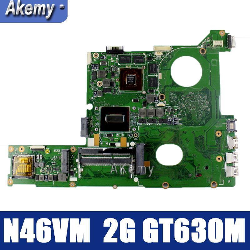 Amazoon  N46VM GT630M Onboard 2 Gb Motherboard Para ASUS N46V N46VM N46VZ N46VB N46VJ Laptop Mainboard 100% Testado Rev 2.1