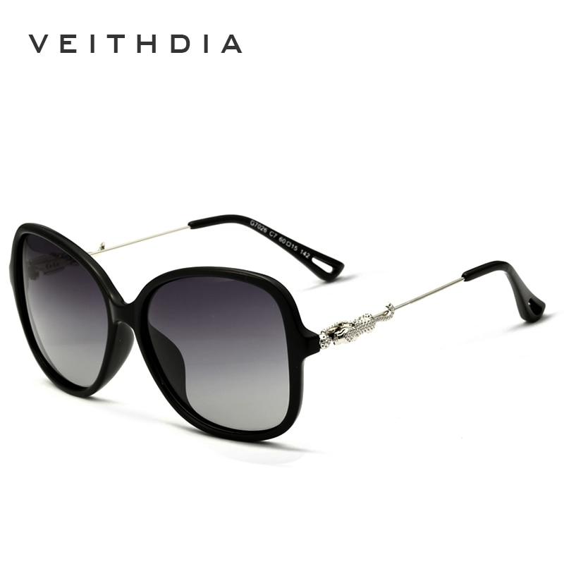 a5f92f0a6 VEITHDIA ليوبارد العلامة التجارية الرجعية TR90 المرأة نظارات شمسية  الاستقطاب السيدات مصمم النظارات الشمسية نظارات اكسسوارات للنساء 7026