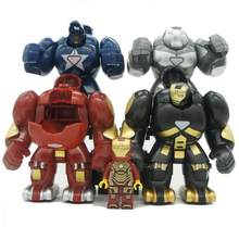 4pcs/lot Mr298 DC Marvel Super Heroes Iron Man With Hulkbuster Model Building Blocks Enlighten Figure Compatible With Bela(China)