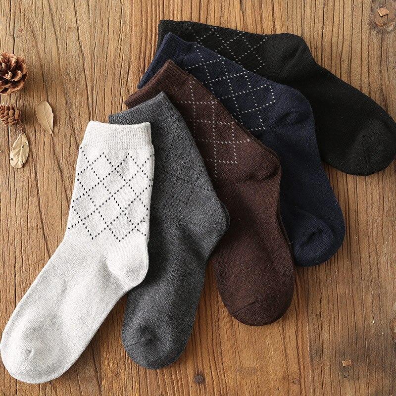 Mantieqingway Classic Plaid Printed Socks for Mens Suits Wedding Business Dress Cotton Socks Casual Male Long Socks