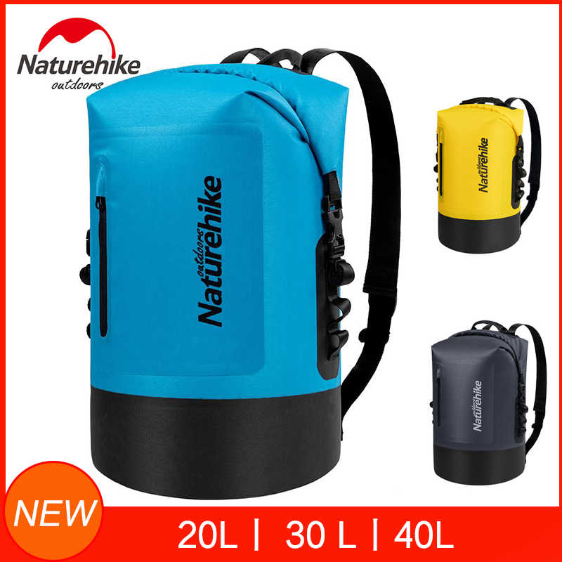 Naturehike 20L/30L/40L Dry Bag Waterproof Bags Dry Wet Separation Keep Gears Dry For Outdoor Camping Caving Trekking Rafting