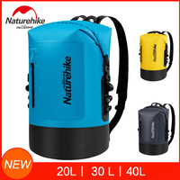 Naturehike 20L/30L/40L Dry Bag Waterproof Bags Dry Wet Separation Keep Gears Dry For Outdoor Camping Caving Trekking Rafting