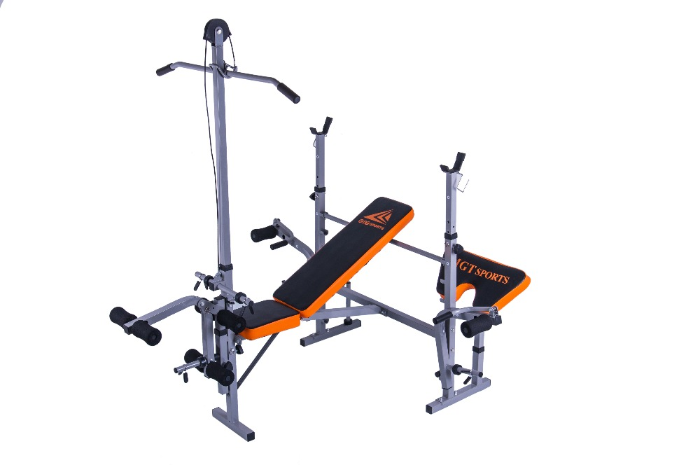 Multifunctional weightlifting bed indoor fitness equipment for bench press barbell bed folding stool bird home fitness equipment