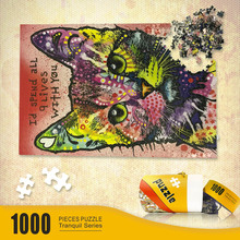 Party Game Pure Wooden Jigsaw Puzzles 1000 Pieces for Children Kids and Adults Cats