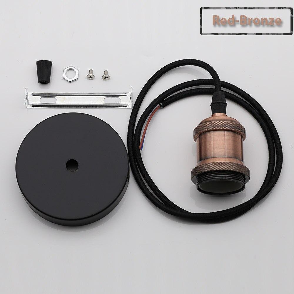 Винтажные подвесные светильники E27 патрон лампы 110V 220V винт переключения установки e27 Цоколи лампы Ретро держатель лампы edison - Цвет: Red Bronze