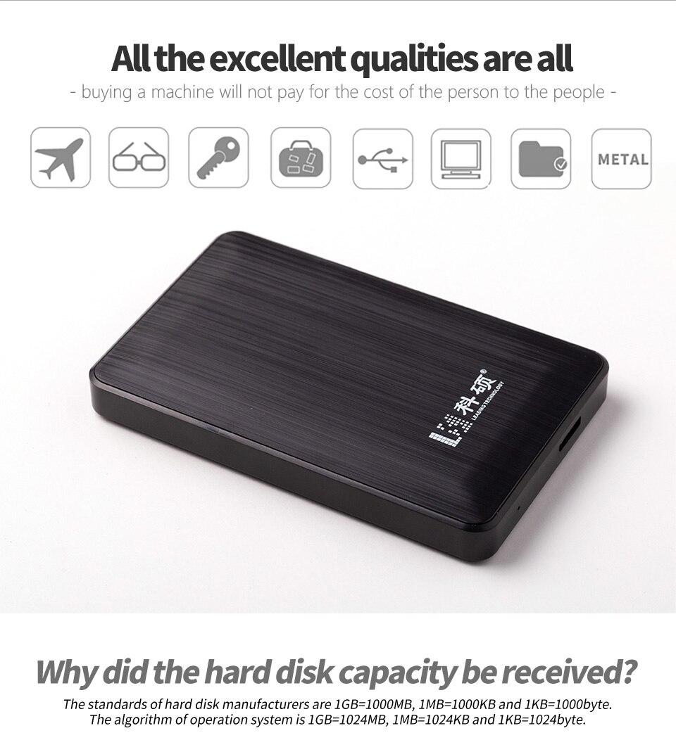 KESU USB 3.0 80 GB 120 GB 160 GBPortable disque dur externe HDD disque dur externe HD pour PC/Mac