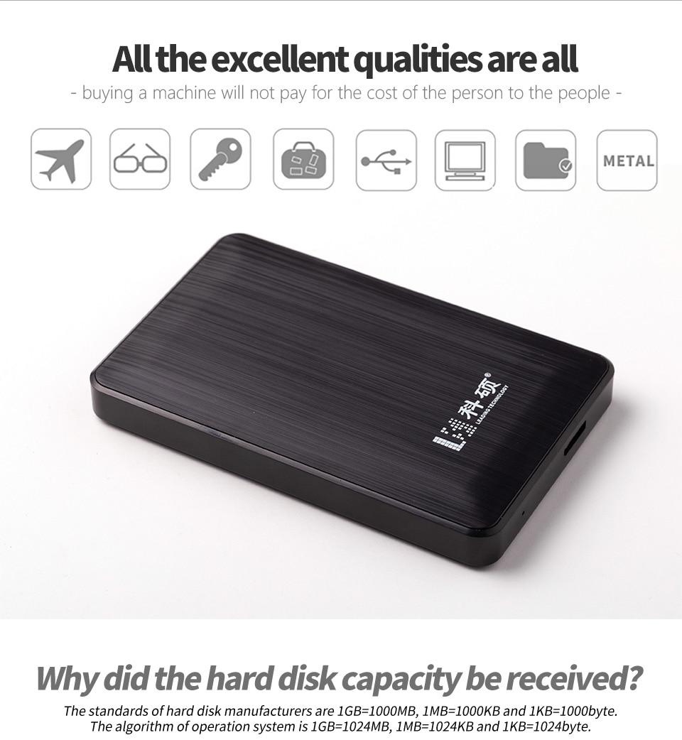 KESU USB 3.0 80GB 120GB 160GBPortable External Hard Drive  HDD External HD Hard Disk For PC/Mac