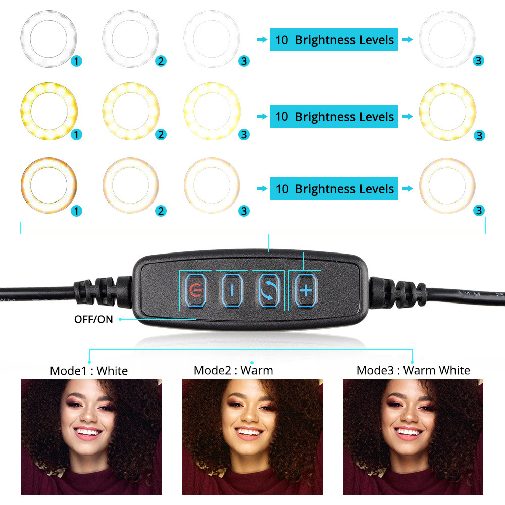 cheapest 10Inch LED Ring Light LampTripod Stand Selfie Camera Phone Studio Video Dimmable moviles baratos libre android espa  ol