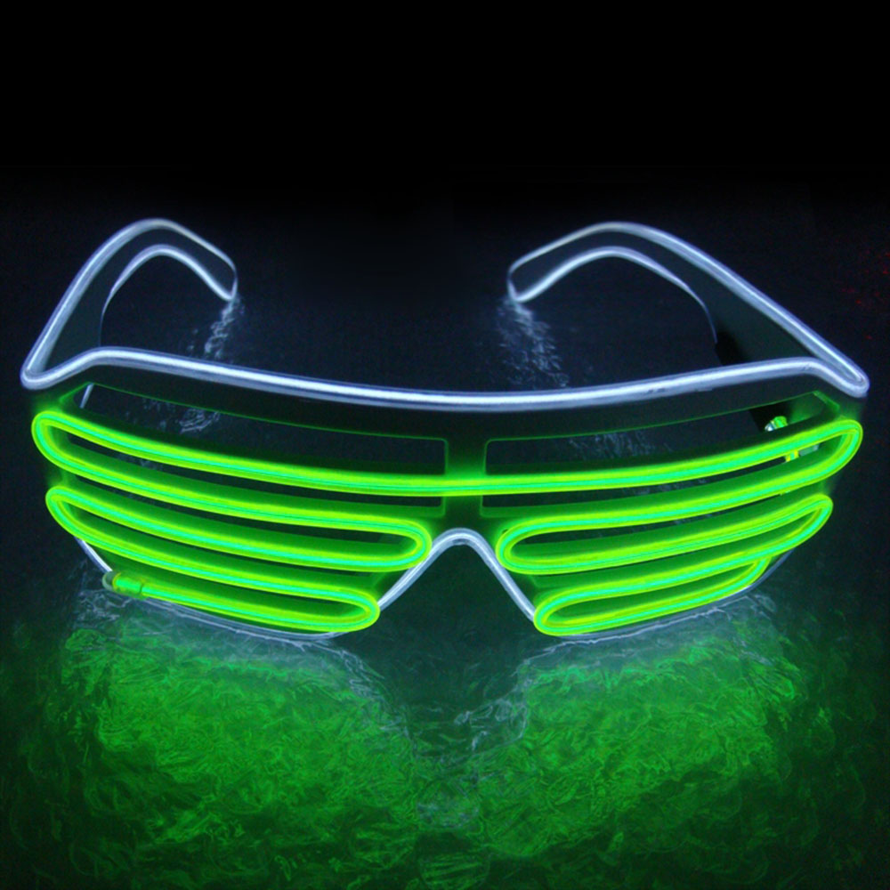 El Wire LED Glasses Fashion Neon Light Up Luminous Glasses Rave Costume Festival Party Gift Indoor Outdoor Novelty Lighting