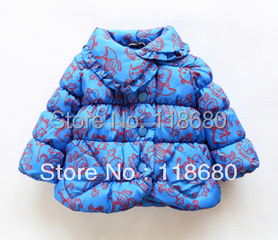 new 2015 autumn winter children outerwear baby clothing fashion girls striped wadded jacket baby outerwear kids jackets & coats