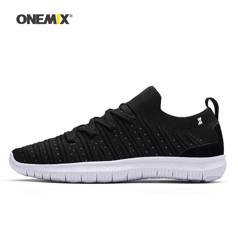Onemix Men Running Shoes for Women Black Socks Loafers Mesh Designer Breathable Jogging Sneakers Outdoor Sport Walking Trainers onemix woman running shoes for women white mesh air breathable designer jogging sneakers outdoor sport walking tennis trainers