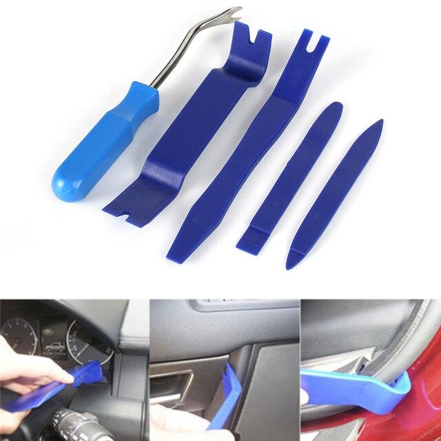 US $5 06 10% OFF|5Pcs Car Panel Dash Removal Tools Nail Puller Radio Audio  Door Trim Pry Open tool Plastic Repair Kit Car Accessories-in Tire Repair
