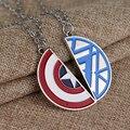 Los Vengadores Capitán América Collar Dos Medio Metal Shield Colgante para los amantes de la Joyería de La Película