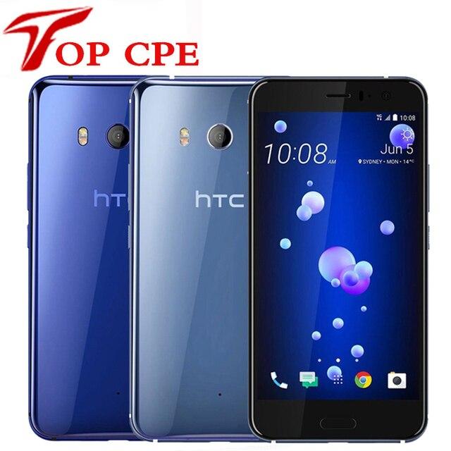 "HTC U11 Original Unlocked GSM 3G 4G Android Mobile Phone Octa Core 5.5"" 12MP&16MP WIFI GPS 4GB RAM 64GB ROM Fingerprint NFC"