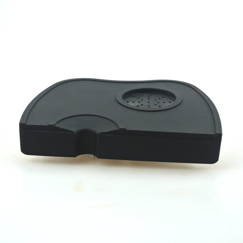 1 PC Free Shipping Coffee Tamper Silicone Rubber Tampering Corner Mat Black Mat without tampers