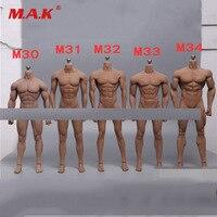 1 6 Scale Super Flexible Male Body Figure M30 M31 M32 M33 M34 Suntan Man Seamless