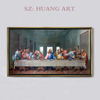 High quality Character Oil painting godfather Canvas Reproductions The Last Supper by Leonardo Da Vinci Painting hand painted