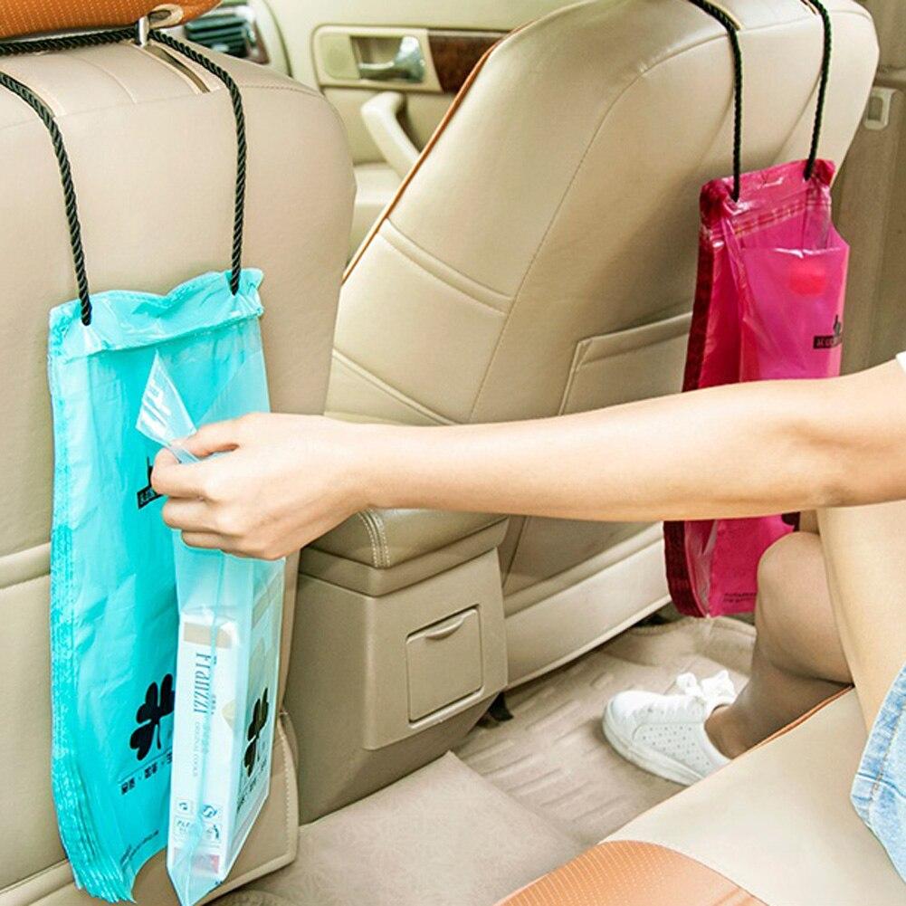 50pcs/Set Car Organizer Back Seat Garbage Storage Bag Car Seatback Trash Bag Convenient Carrying Car Bottle Stowing Tidying Bag