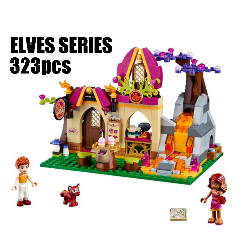 WAZ Compatible Legoe Elves 41074 lele 79222 323pcs Elves Figure blocks Azari Magical Bakery building blocks toys for children 0367 sluban 678pcs city series international airport model building blocks enlighten figure toys for children compatible legoe