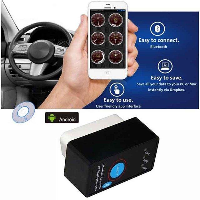 PIC18F25K80 Chip ELM327 Bluetooth With Switch Auto Diagnostic Tool ELM 327 V1.5 OBD2 Scanner OBD Code Reader OBDII Scan ELM327
