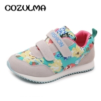 COZULMA Autumn Winter Children Floral Fashion Sneakers Boys Girls Causal Shoes Breathable Kids Hook Loop Flat