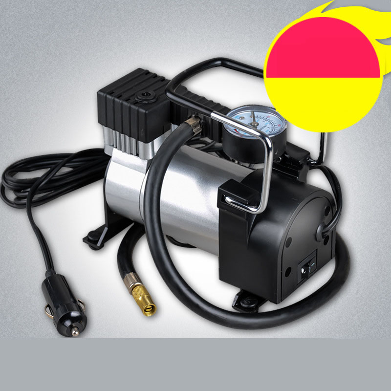 12V Portable Car Tyre Inflator Pump 15A 27L/min Air Compressor 100PSI Electric Tire Inflator Pump for Auto Bicycle Motorcycle