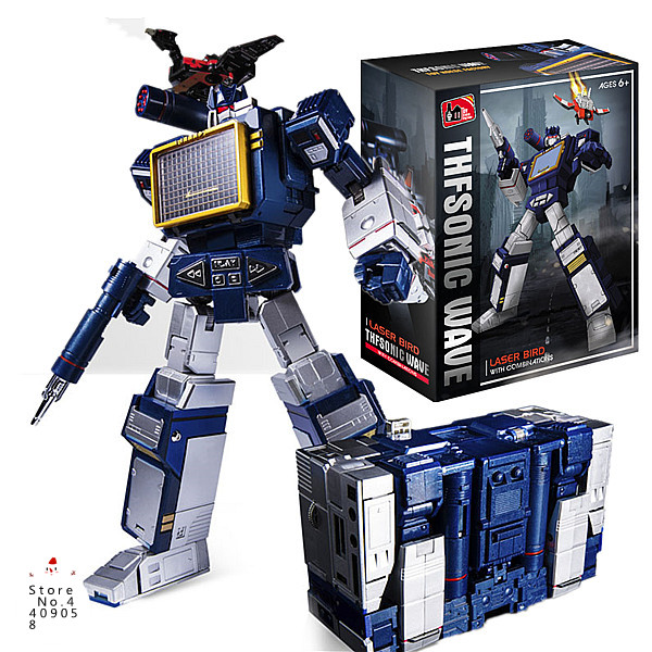 IN Stock KBB Skywarp Soundwave Tape Transformation KBB MP11 Starscream Megatron Dirge Optimus Bumblebee Action Figure Model scuba dive light