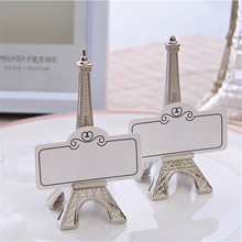 lychee eiffel tower table card stand wedding decoration table number place name card stand memo card holder party supplies