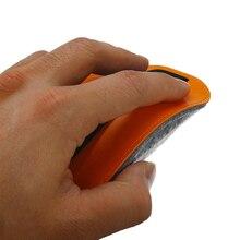 Оранжевый из искусственной кожи фетровая сумка для мыши чехол Пылезащитный чехол мышей чехол сумка для хранения для Apple Magic Мышь 2 LA003
