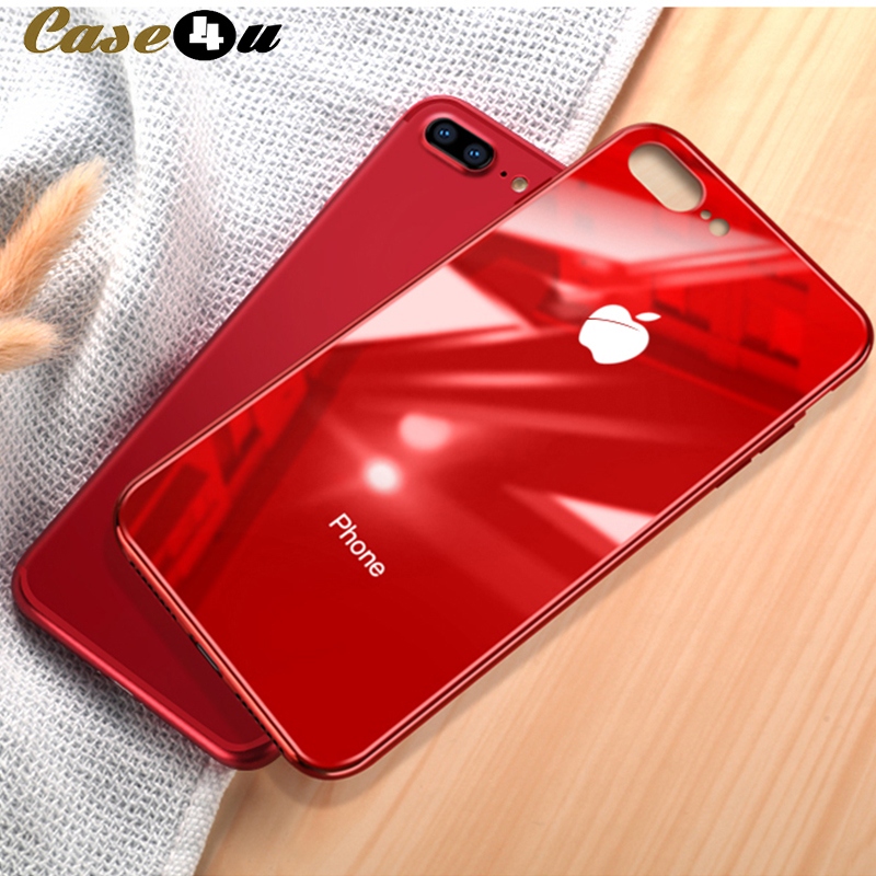 4e85827d44131 Original Tempered Glass Mirror Cases for iphone 6 6s Plus 7 8 Plus With  Logo Soft
