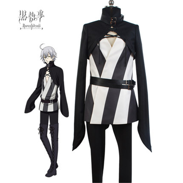 Anime Black Butler Circus Troupe Snake Cosplay Costume Coat+Trousers+Leather Belt+Free Shipping G
