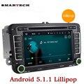 7 Дюймов VW 2 Din Автомобильный Радиоприемник Стерео Quad Core Android 5.1.1 ПК автомобиля DVD GPS Навигации Для Volkswagen Polo Golf Touran Tiguan Amarok