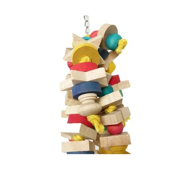 Arrival Wood Colorful Parrot Toys Chew Toy Pet Bird Toys Hanging Swing Cage Toys For Parrots Pet Bird Random Color 3