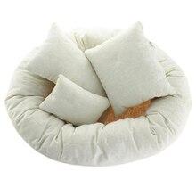 Baby Newborn Photography Basket Filler Wheat Donut Posing Props Baby Pillow