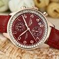 GUANQIN Casual Sports Watch Diamond Chronograph Clock Charm Woman Watches Brand Luxury Quartz-Watch Relogio Feminino Dourado