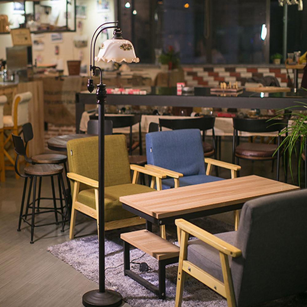 Hohe qualität europäischen stil 110 v 220 v restaurant café eisen stehleuchte led lampe