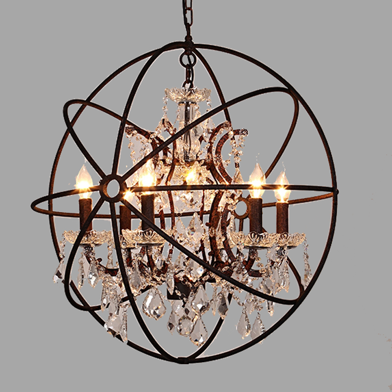 nordic american retro rustic chandeliers continental wrought iron chandelier mainland - Wrought Iron Chandelier
