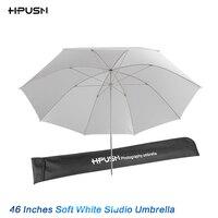 HPUSN 46 116cm High Quality Speedlite Studio Flash Soft Translucent White Umbrella For Camera SLR Photo Studio Accessories