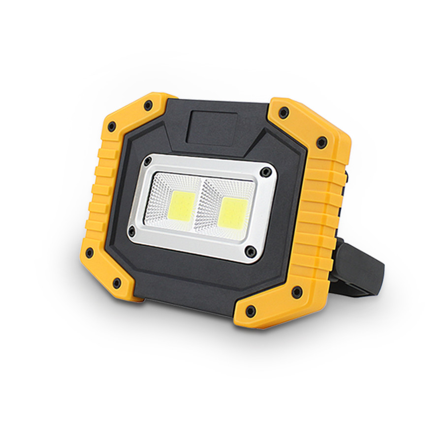Rechargeable 30W COB LED Work Light Camping Spotlight Floodlight 18650 AA