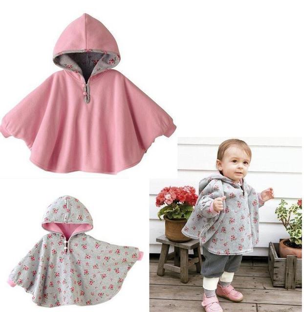 Nuevo abrigos bebé niños chica batas outwear fleece jumpers manto niños clothing clothing del poncho del cabo de navidad