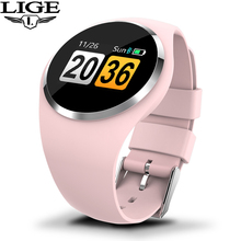 LIGE 2019 New Fashion Smart Watch Women Physiological Reminder Heart Rate Blood Pressure Monitor  Sport Watches For Android IOS