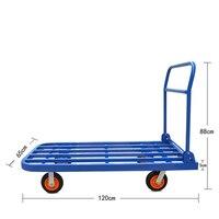 Flashbed коляски Складная ручная тележка 900kgs транспорта разгрузочное оборудование логистики оборот Car 1,2 м Длина