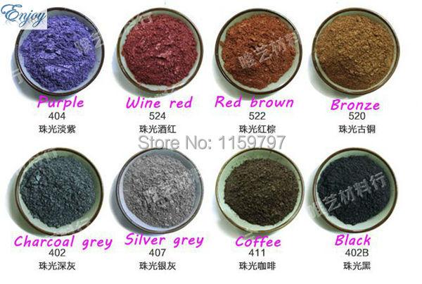 16 colores Pigmento Nacarado Para La Fabricación de Cosméticos, prima de maquillaje sombra de ojos, jabón de BRICOLAJE, pintura pigmento