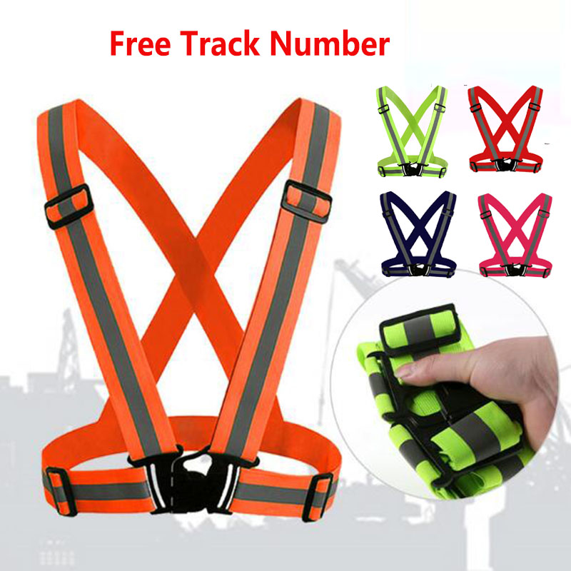 Outdoor 360 Degree High Visibility Neon Adjustable Safety Work Reflective Vest Belt