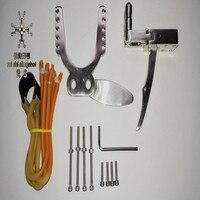 304 stainless steel Polishing treatment DIY KITS slingshot Mechanical Slip Slingshot Hunting Catapult DIY