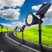 Led Solar Light Outdoor Garden Solar Lamp 4 LEDs Bulb Solar Led Spotlights Outdoor Waterproof Solar Powered Lawn Wall Lights