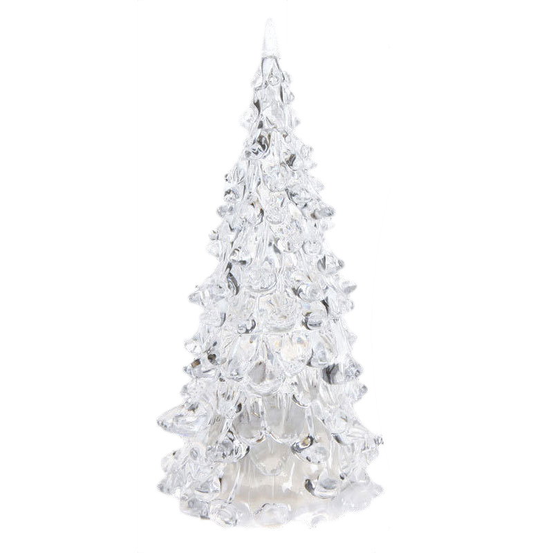 Crystal Christmas Ornaments.Us 3 42 23 Off Tfbc Color Changing Led Artificial Crystal Christmas Tree Decoration Xmas Night Light In Pendant Drop Ornaments From Home Garden